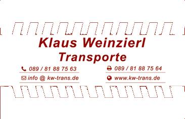 Klaus Weinzierl – Transporte in München: Umzüge und Transporte